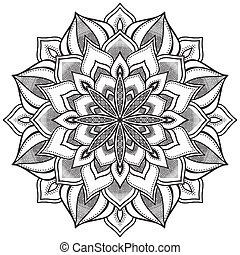 Mandala - Ornament beautiful card with mandala Geometric...