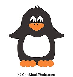 nice penguin on white background vector illustrtion