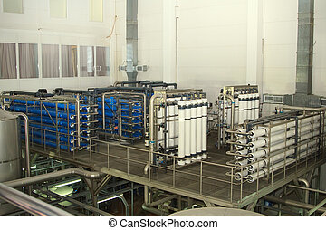 filter system at a large beer company - Modern filter system...