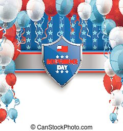 4th July Protection Shield Stars Stripes Balloons