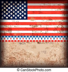 4th July US-Flag Vintage Design