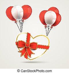 Paper Heart Ribbon Balloons Voucher