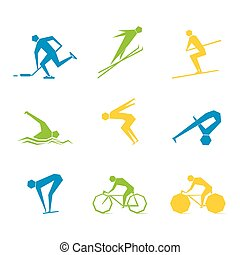 olympic game set design vector