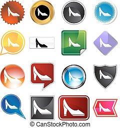Pump Shoe Variety Set - Pump shoe variety set isolated on a...