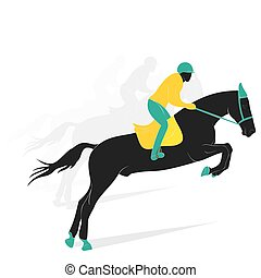 equestrian game player design vector