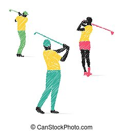 golf player design vector