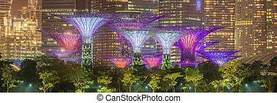 The Supertree at Gardens by the Bay, Singapore - The...