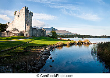 Ross castle, Co Kerry, Ireland - Ross castle Caisleán an...