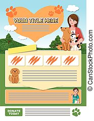 Animal leaflet design template - A4 sized Leaflet design...