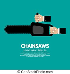 Chainsaw. - Chainsaw Vector Illustration.