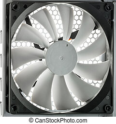 PC cooler - White PCU mounted cooler shot from inside