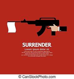 Surrender. - Surrender Vector Illustration.