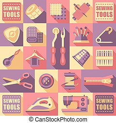 Sewing Tailoring and Needlework Decorative Icons