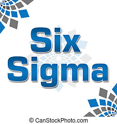 Six Sigma Blue Grey Squares Element - Six Sigma concept...