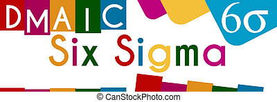 Six Sigma Colorful Stripes Square - Six Sigma concept image...