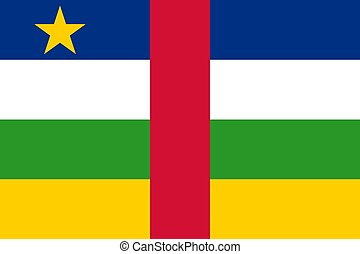The national flag of Central African Republic