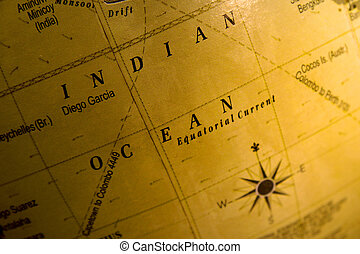 Indian ocean on map