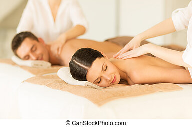 couple in spa - picture of couple in spa salon getting...