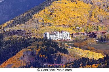 Condominiums in Colorado - Condominiums and hotel on the top...