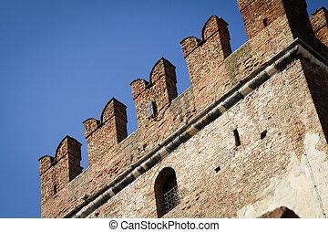Castelvecchio in Verona, Italy, in a Autumn Day