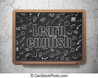 szkoła, tło, uczyć się, deska, nauka, angielski,  concept:
