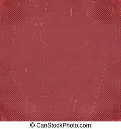 Old marsala scratched card with halftone gradient - Old...