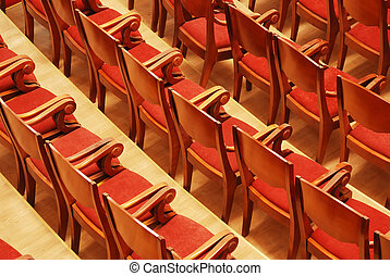 theatre seats - Photograph of the Rows of theatre seats