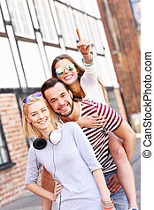 Group of happy friends - A picture of a group of happy...