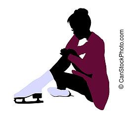 Female Ice Skater Silhouette - Female Ice Skater...