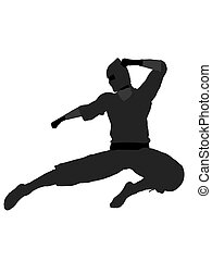 Male Ninja Illustration Silhouette - Male ninja silhouette...