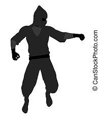 Male Ninja Illustration Silhouette