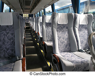 bus - passenger compartment of a big shuttle bus