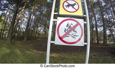 prohibiting signs resort - Prohibiting warning signs near...
