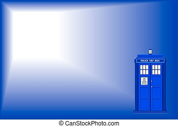 Police Telephone Box Background - An old fashioned police...