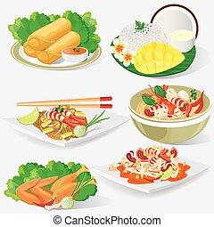 Print - illustration. Thai cuisine