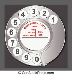 Old Style Telephone Dial - Old style telephone analogue ring...