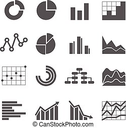 Different graphic business ratings and charts. infographic...