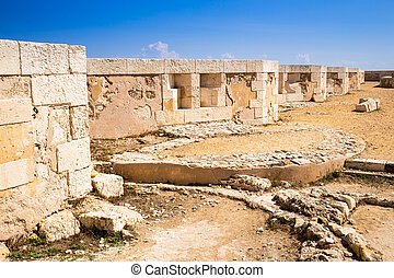 Siracusa castle - Detail of the walls of Siracusa fortess...