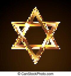 star of David - Vector illustration of a bright star of...