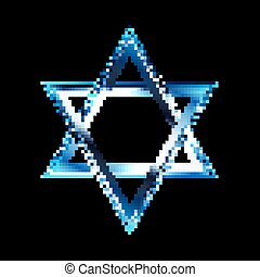 star of David - Vector illustration of a bright star of...