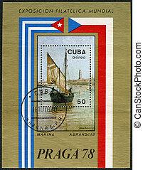 CUBA - 1978: shows Marina by A.Brandeis, Praga78 - CUBA -...