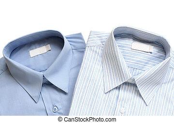 Dress shirts isolated on white background