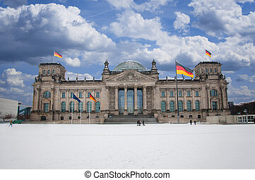 Reichstag in Berlin at day