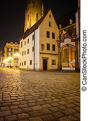Wroclaw  - Old town at night, Wroclaw Poland.