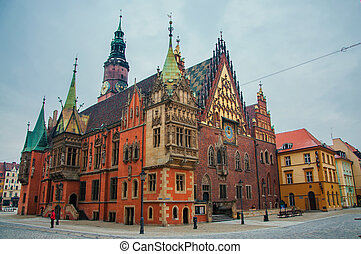 Wroclaw - Old Town in Wroclaw, Poland.