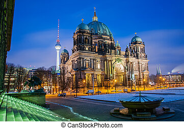Berlin Dom by Night