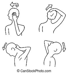 Neck Exercise Routines - An image of neck stretching...