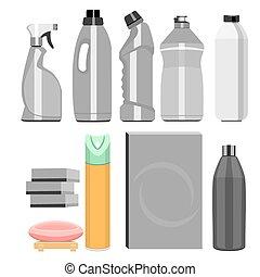 set of household chemistry