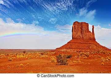 The rainbow in Monument Valley