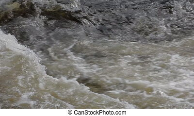 The rapid flow of the rive 6 - Quick flow of the river....